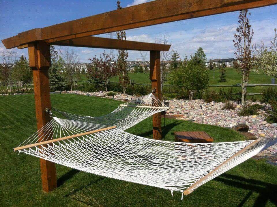 CityScape Landscaping Calgary - backyard hammock design / construction Landscaping calgary